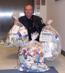 Captain Jay Gribbin, Hampstead Police Department National Prescription Drug Take Back Day, October 2011
