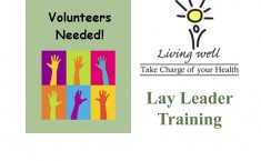 Lay Leader training for Chronic Disease Self-Management course - Dec. 1 & 2, 8 & 9