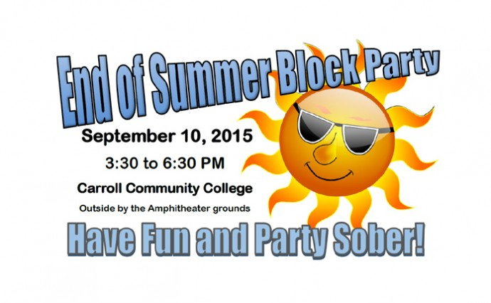 End-of-Summer Block Party - Sept. 10