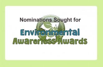 Nominations for 2018 Environmental Awareness Awards - due Mar. 1